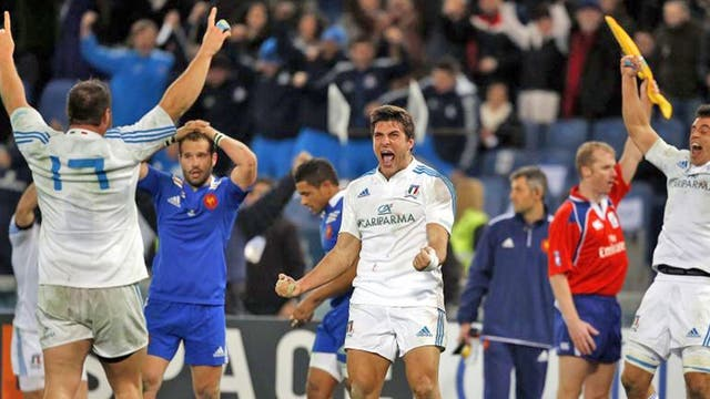 Italy delight and France despair at the final whistle in Rome