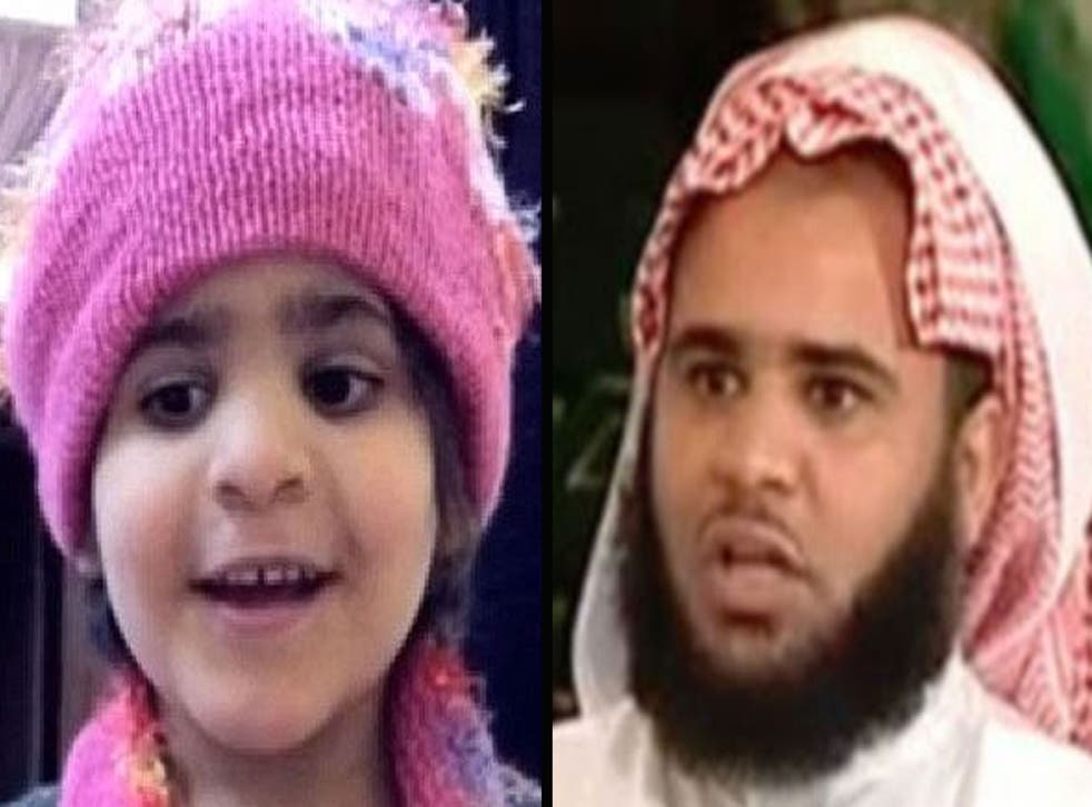 Lama al-Ghamdi and her father Fayhan al-Ghamdi