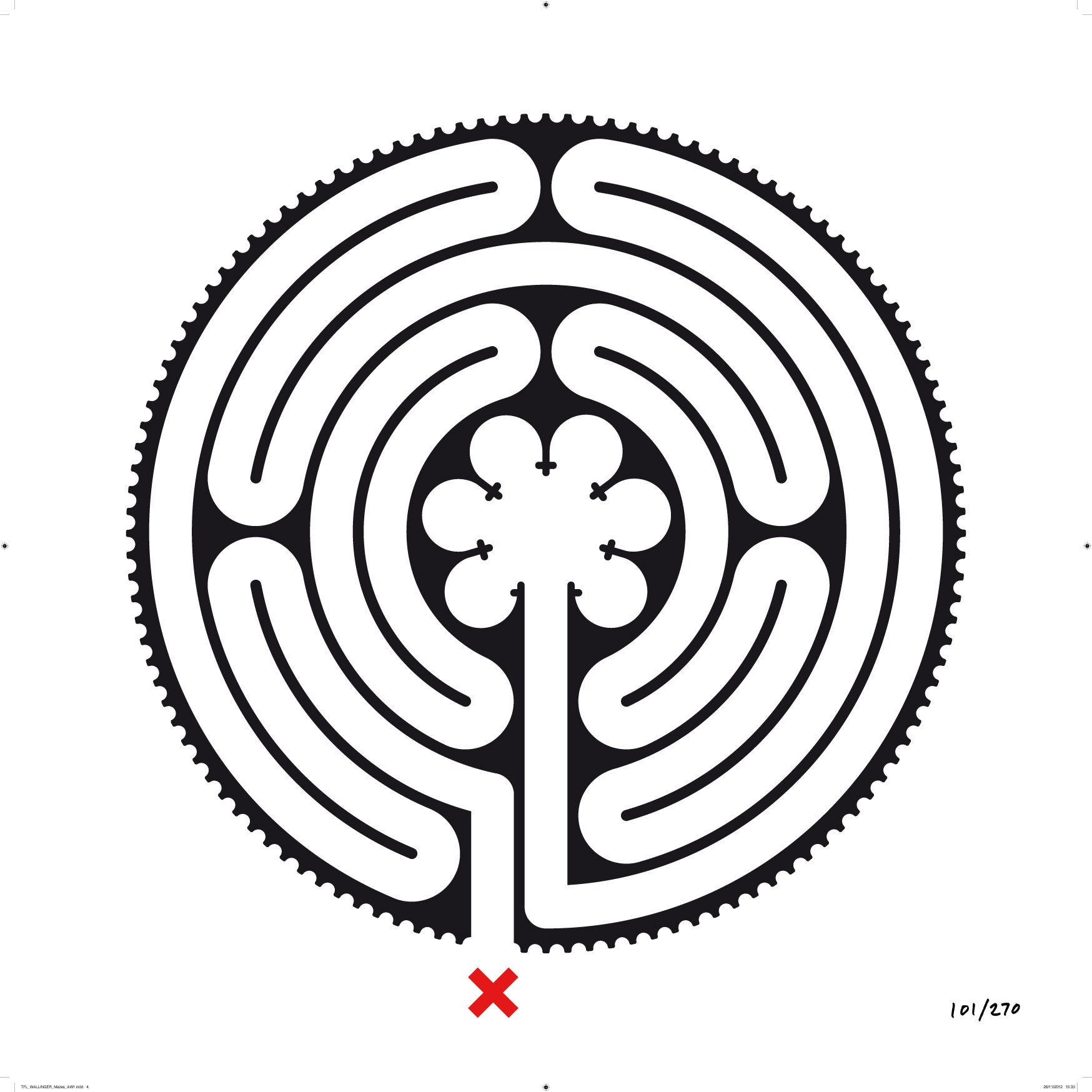 Tube Gets 270 Labyrinthine Artworks One For Each Stop From Artist