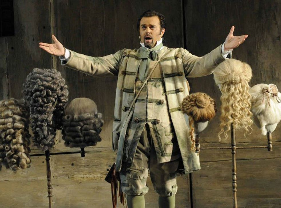 The English National Opera's staging of The Barber of Seville calls for 28 wigs