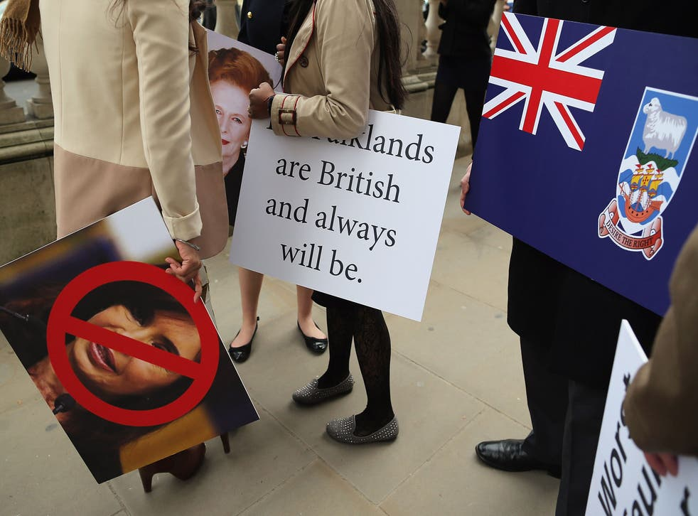 Campaigners ahead of the Falklands Referendum in 2013