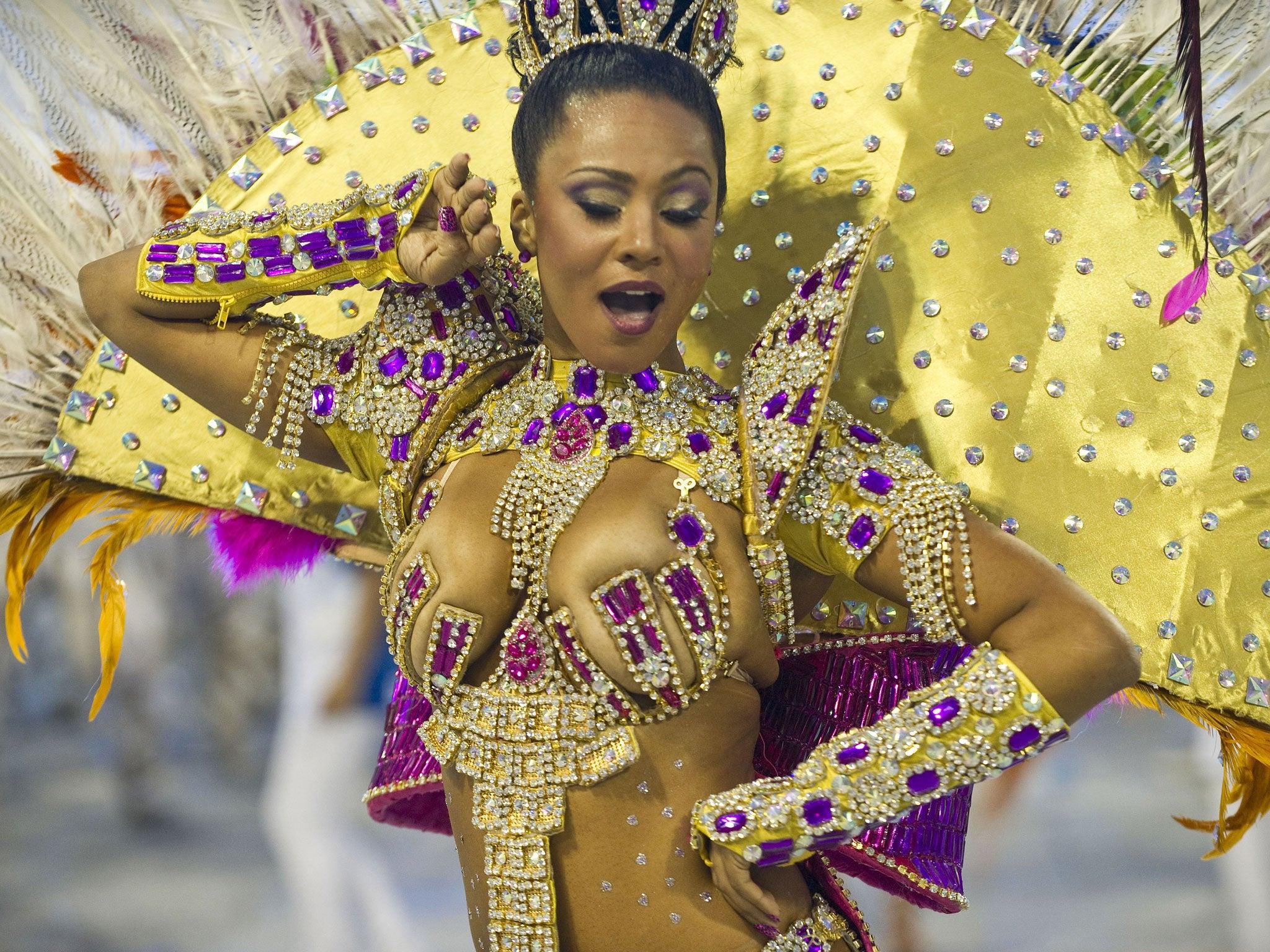 Salvador, Bahia, Brazil. Young African Brazilian girl in ...  |Brazilian Carnival Ladies