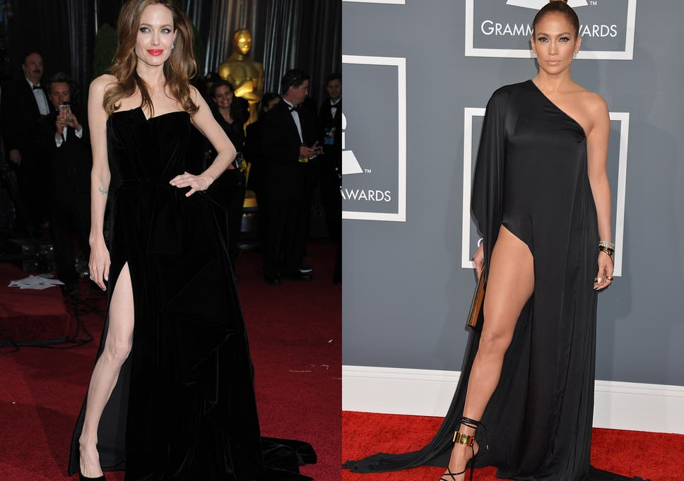 Video J Lo Flashes Leg In Angelina Jolie Style Dress The Independent