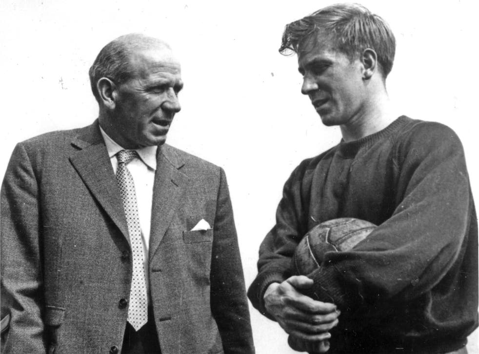 Matt Busby with Bobby Charlton shortly after the crash in 1958