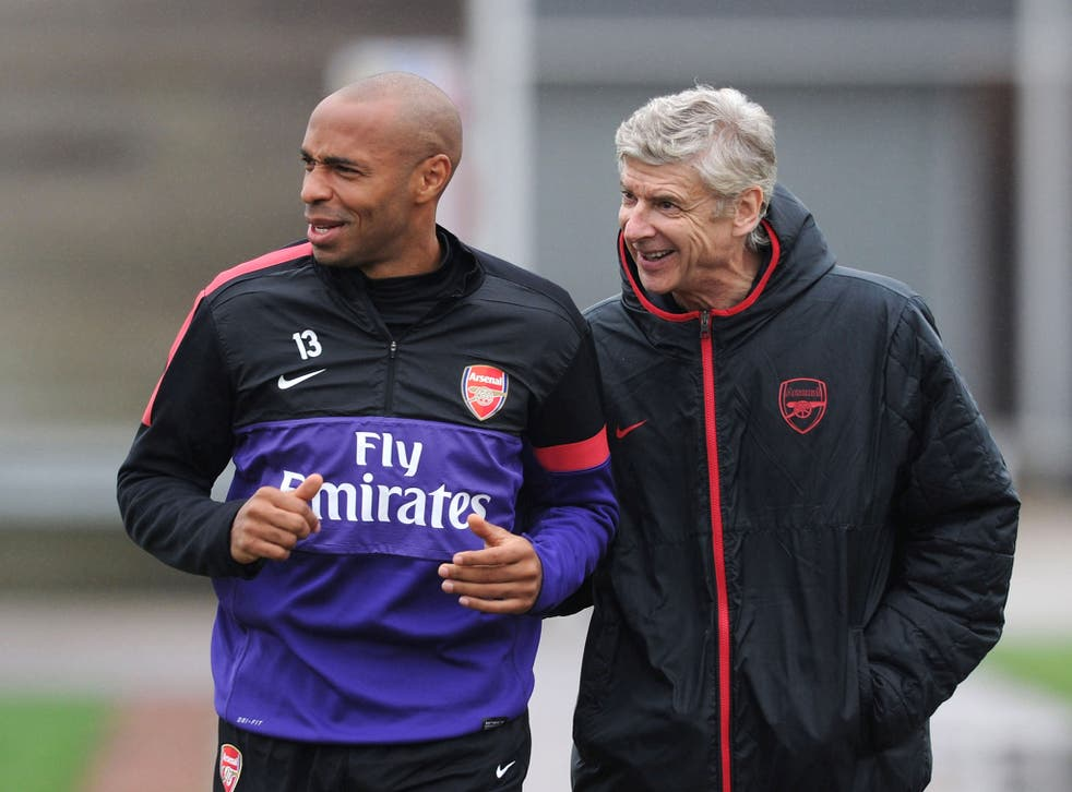 Thierry Henry and Arsene Wenger