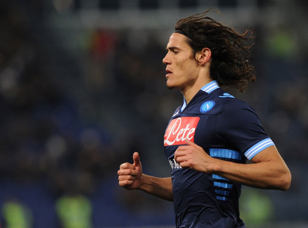 Napoli's Edinson Cavani has scored 18 goals in Serie A this season and could command a fee of £52m