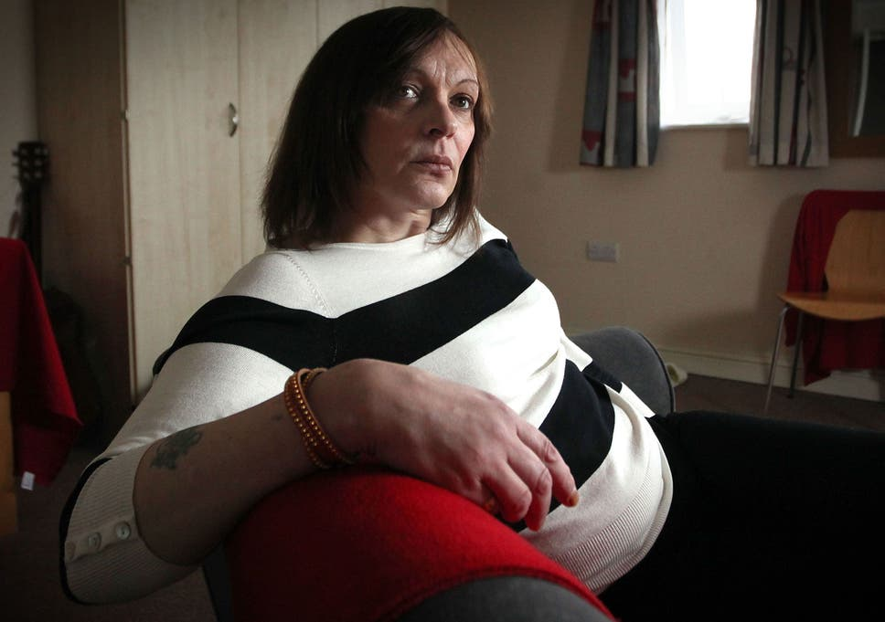 Transexual 'Rebecca' pictured at her home in Maidstone