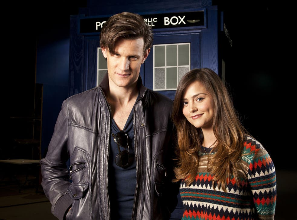 Doctor Who Matt Smith with new assistant Jenna-Louise Coleman