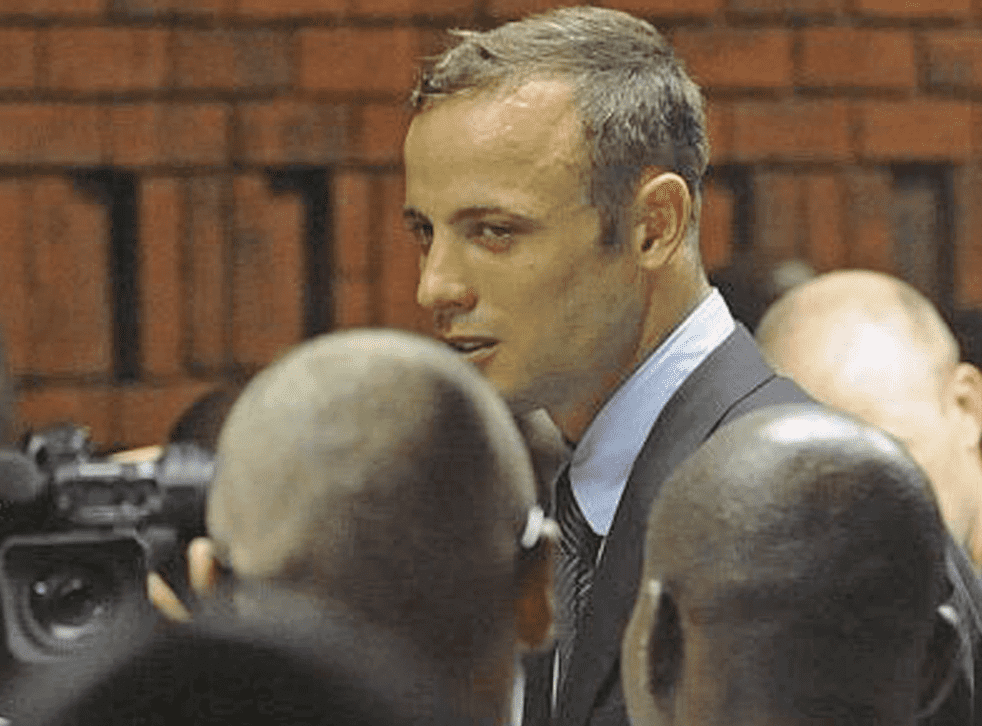 Oscar Pistorius in the Pretoria magistrates court after spending a night in police custody