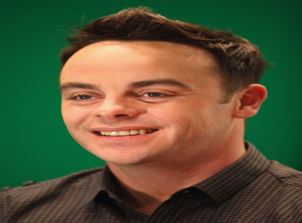 Ant McPartlin is one half of duo Ant and Dec with Declan Donnelly