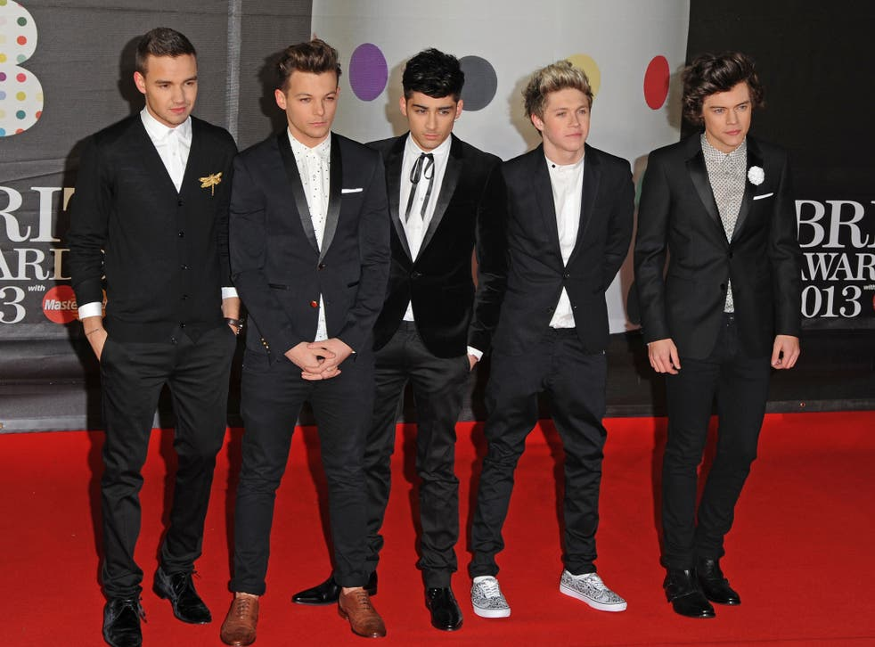 Liam Payne, Louis Tomlinson, Zayn Malik, Niall Horan and Harry Styles of One Direction attend the Brit Awards 2013 at the 02 Arena