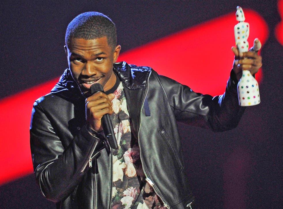 Frank Ocean receives a BRIT award for international male solo artist in 2013