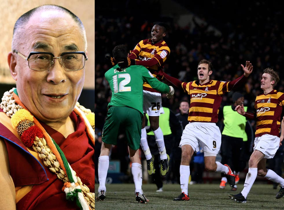 The Dalai Lama is the honorary president of fans' group Friends of Bradford City