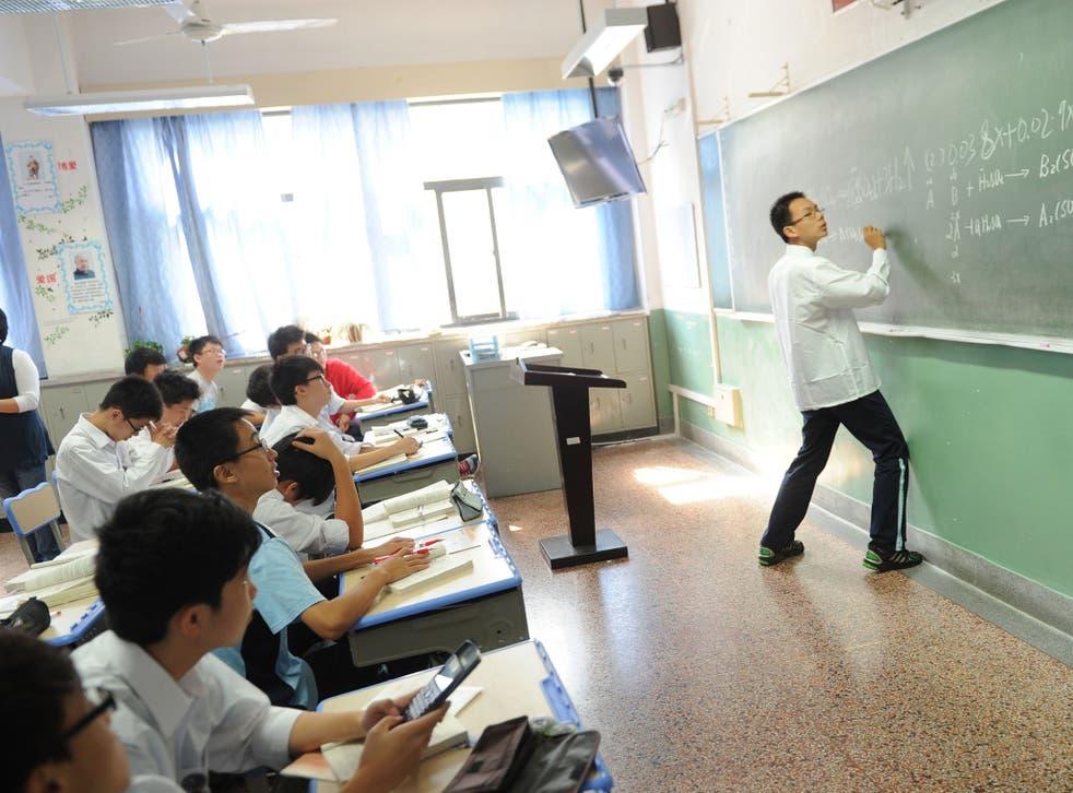 A maths lesson in Shanghai