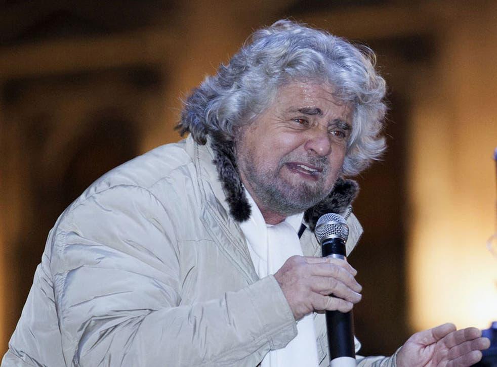 Beppe Grillo, comedian-turned-political agitator