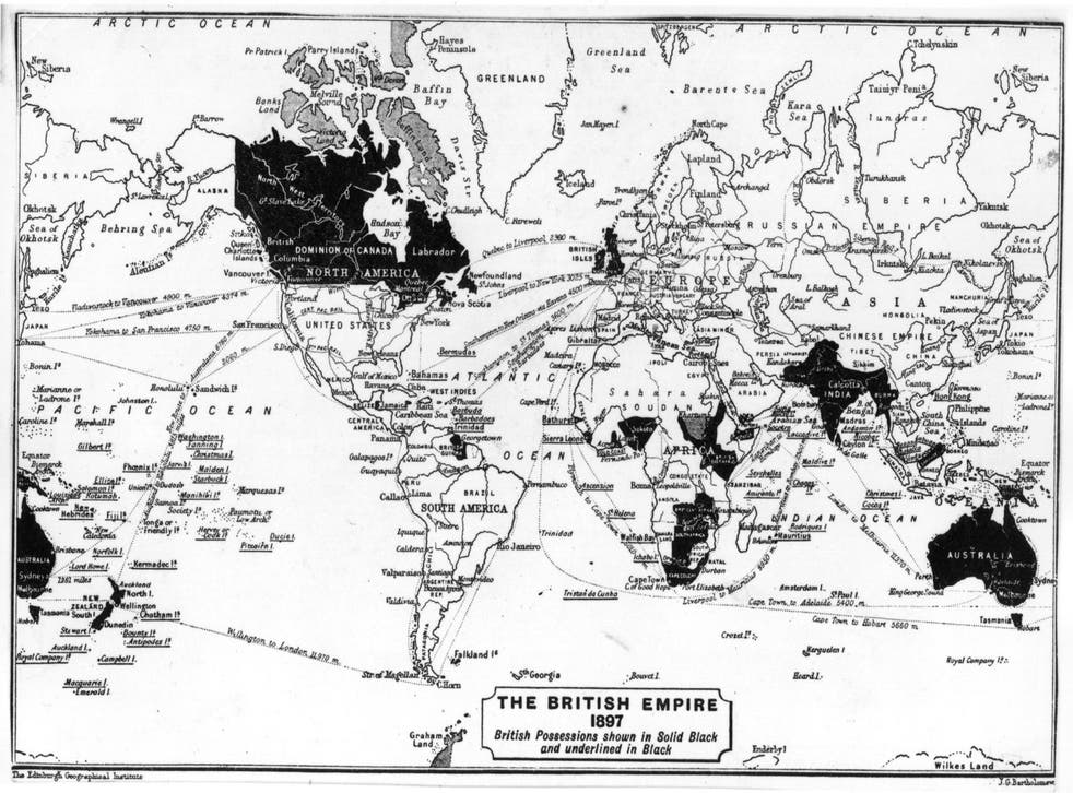A map of the British Empire from 1897