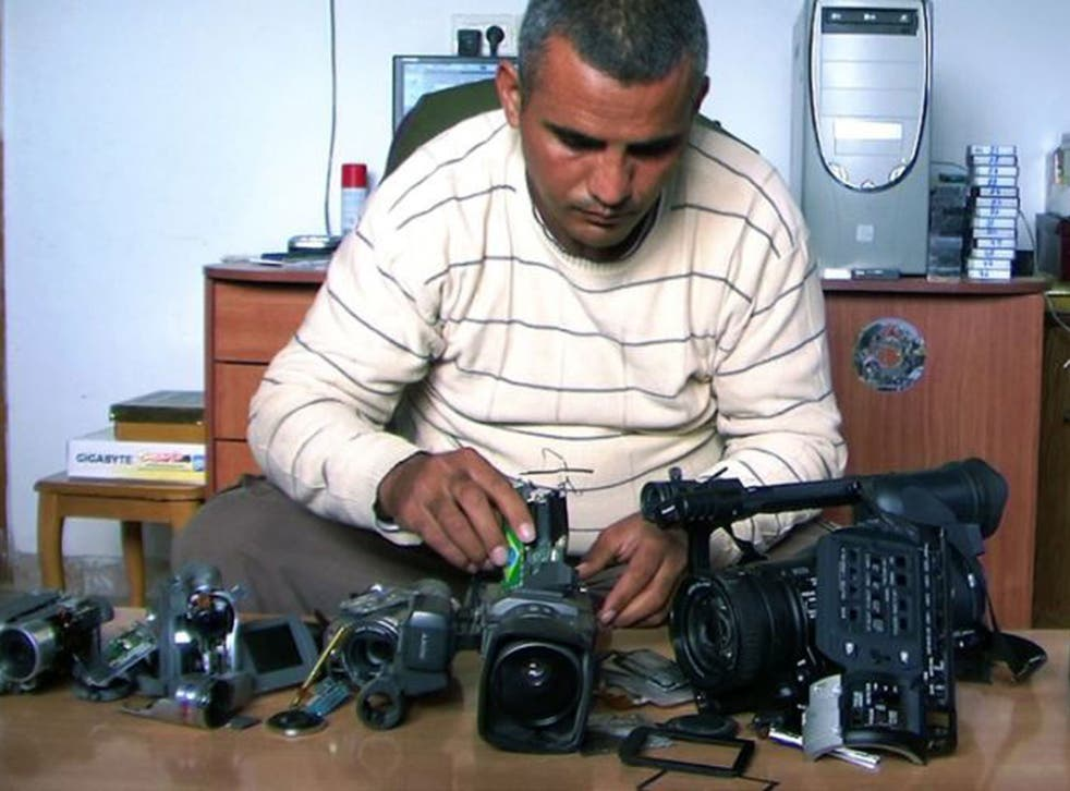Emad Burnat's film, '5 Broken Camers', is nominated in the best documentary feature category