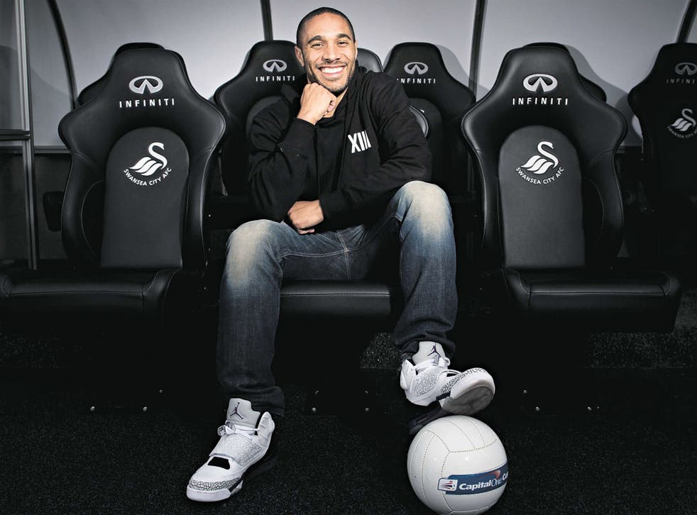 Swansea captain Ashley Williams tells Sam Wallace about his journey from working at Beefeater to tomorrow's League Cup final – via his infamous clash with RVP