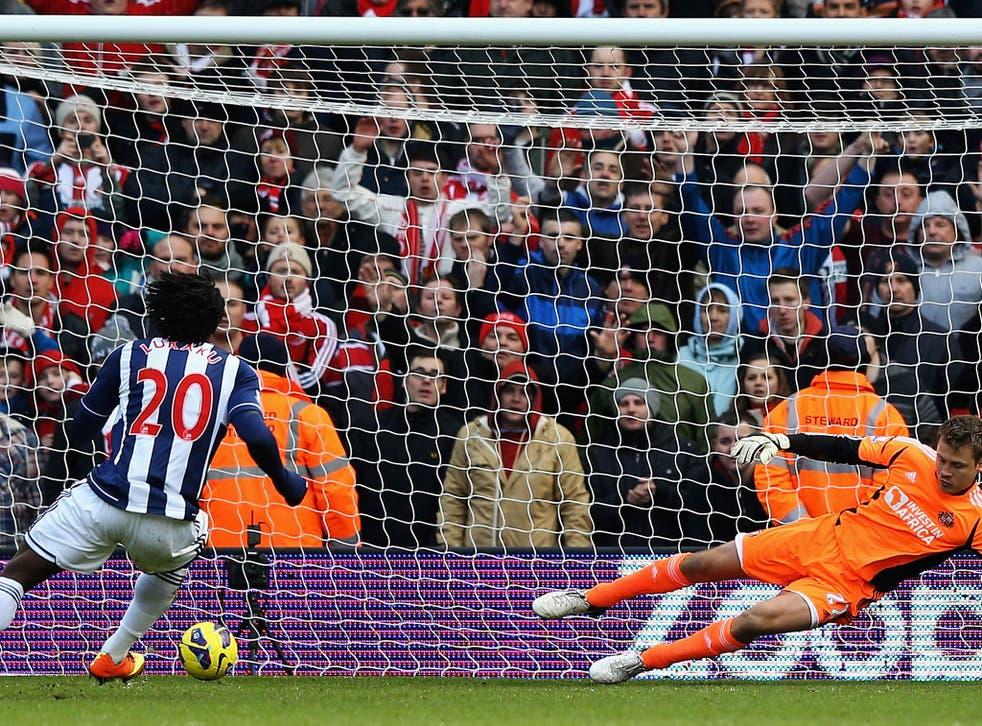 Romelu Lukaku slots home a penalty from West Brom