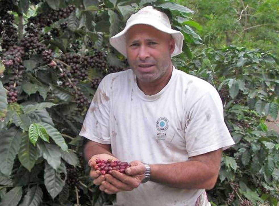 'Last year I got $2.20 per pound, this year $1.40' Gerardo Arias Camacho, 43, a coffee farmer from Costa Rica