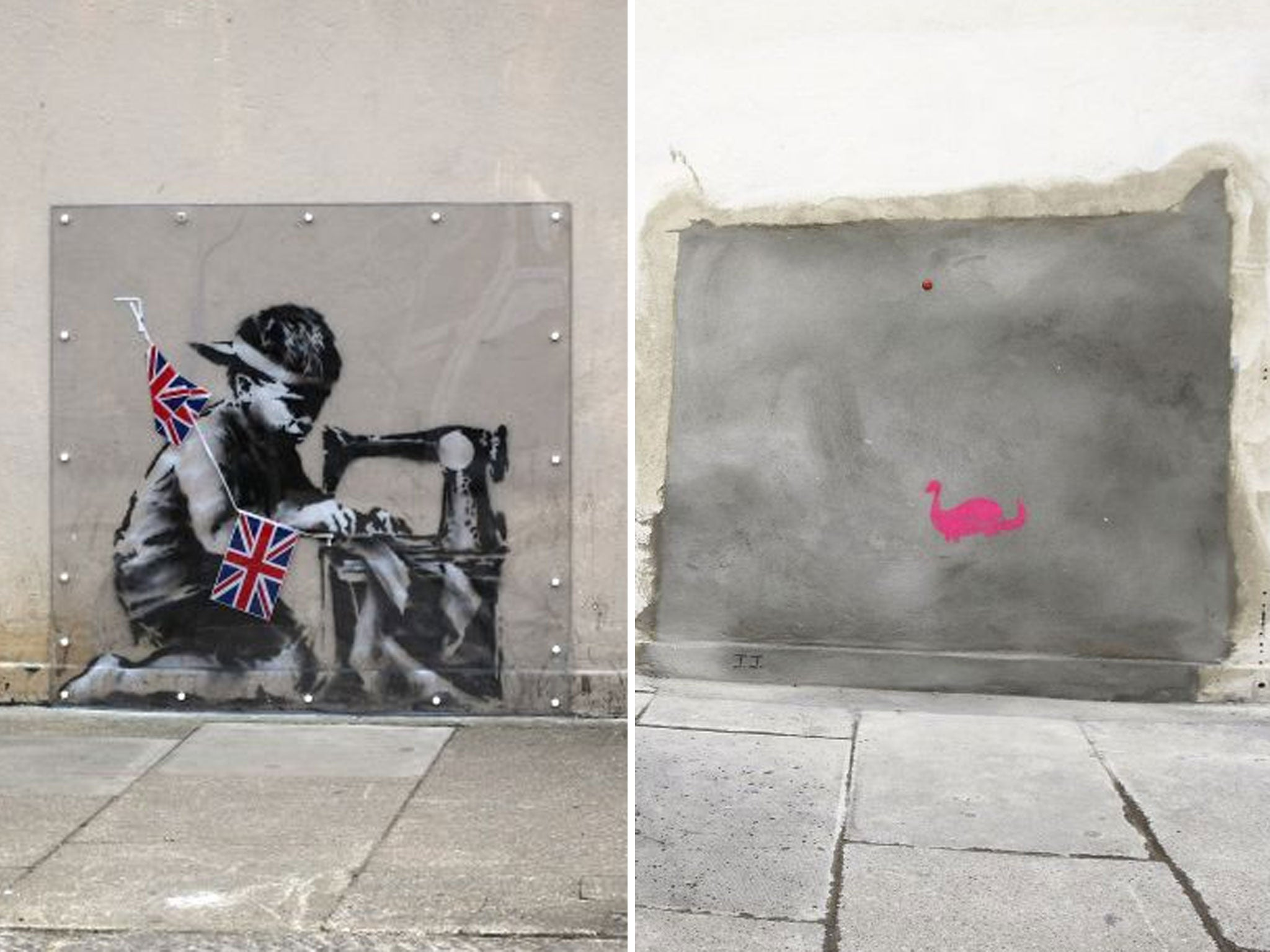 no ball games anger as another banksy removed from north london no ball games anger as another banksy removed from north london wall the independent