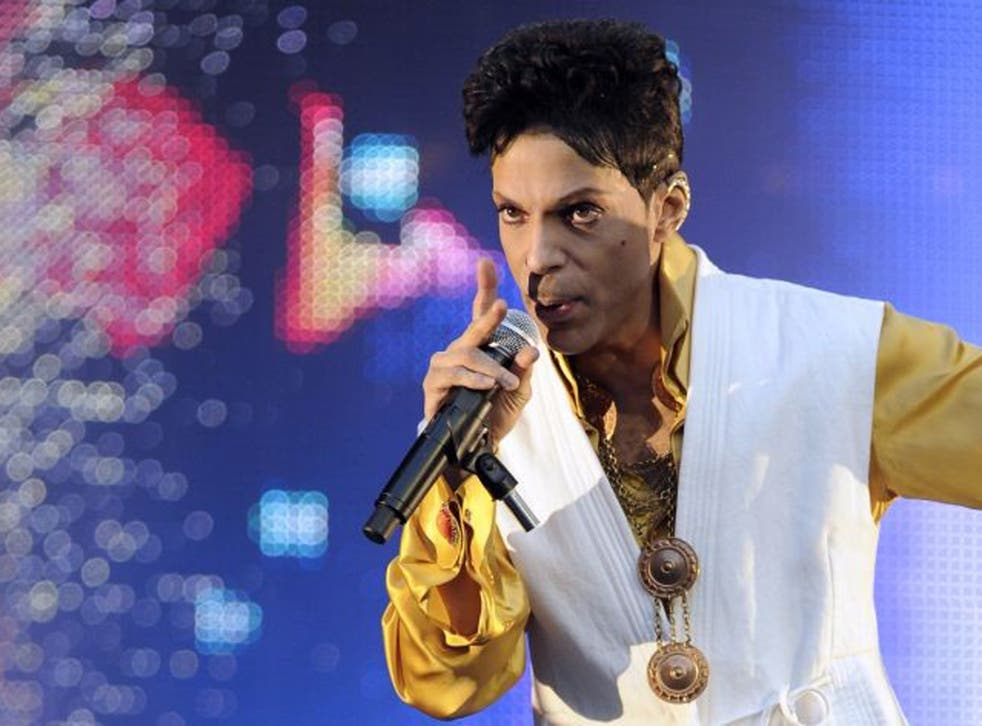 Purple patch: Prince