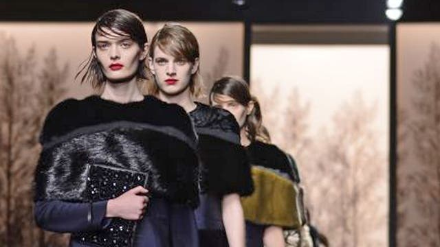 Models display creations as part of Marni autumn/winter 2013 collection during Milan Fashion Week
