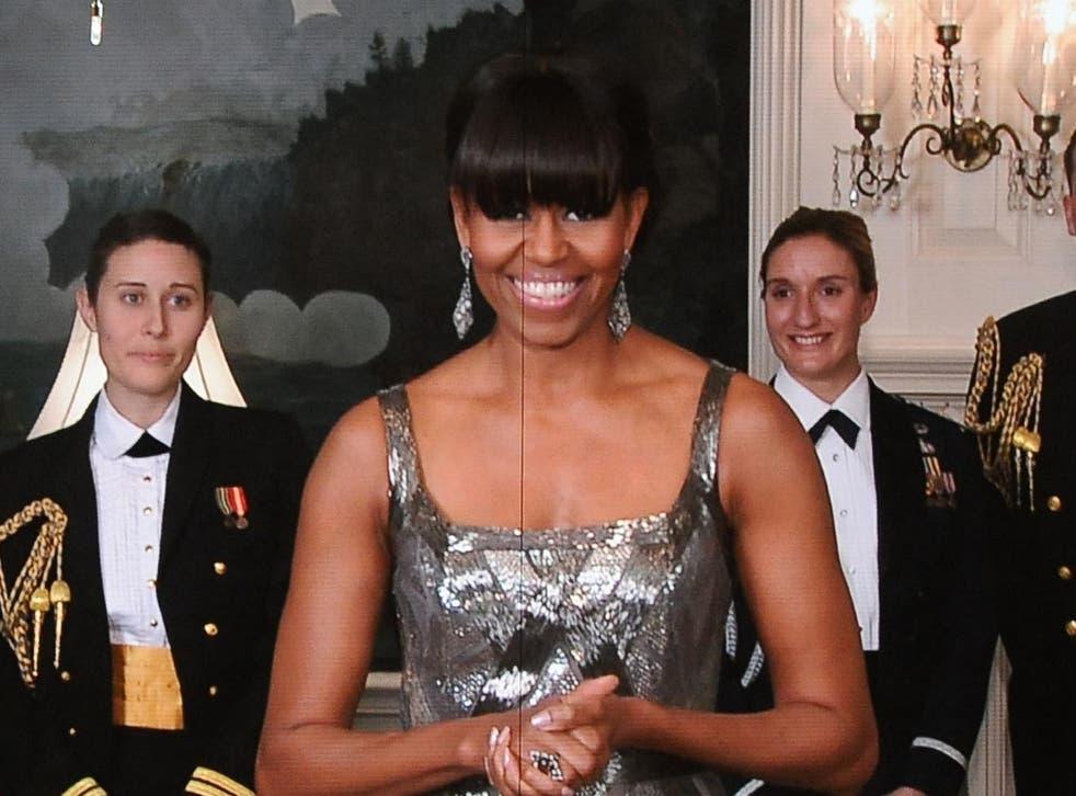 Michelle Obama presenting Best Picture Oscar