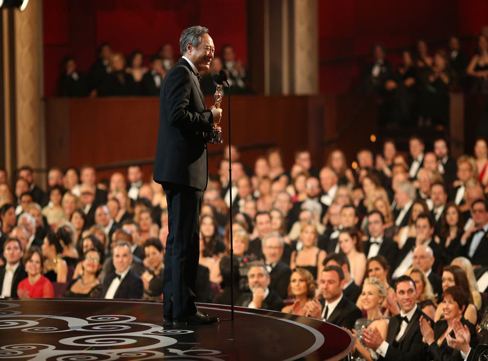 Ang Lee accepts his Oscar for best director (Life of Pi)