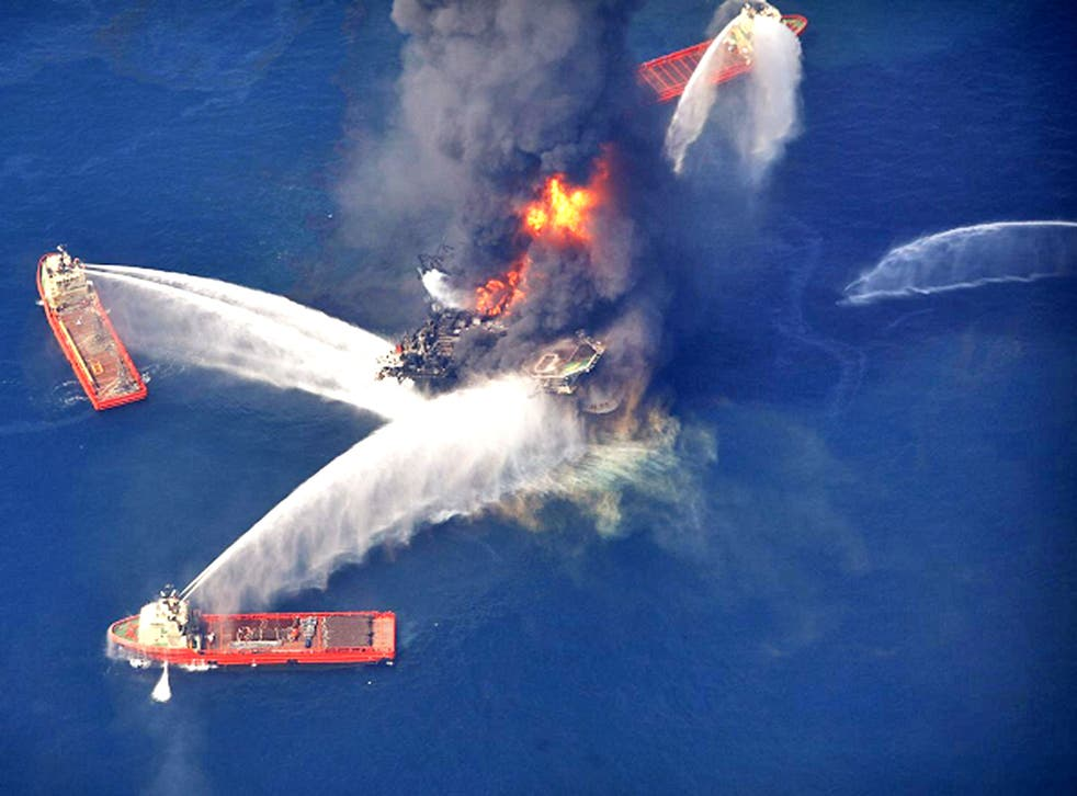 The 'Deepwater Horizon' explosion in the Gulf of Mexico killed 11 workers and injured 16 others