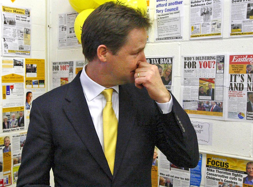 Fresh questions about Nick Clegg's leadership have been raised