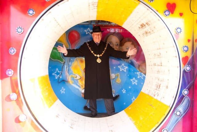 Colourful character: David Wallis, the newly elected president of the Showmen's Guild of Great Britain