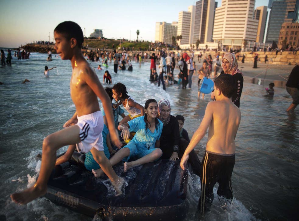 A state founded on hubris? Palestinians from the West Bank at Tel Aviv beach