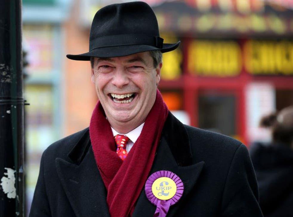 Party leader Nigel Farage