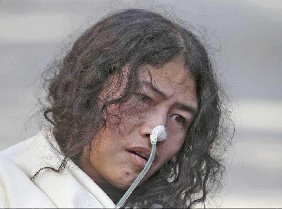 Irom Sharmila launched her fast in November 2000 to protest over the killing of a group of civilians by paramilitary forces