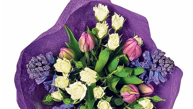 "<p><strong>{1} Marks &amp; Spencer Mother's Day Spring Posy</strong></p> <p>It might not be the most original of gifts, but you'll be hard-pushed to find a mum who doesn't love flowers. This pretty posy, which comprises long-lasting blue hyacinth, purple tulips and white roses, won't break the bank and is available in alternative colours too.</p> <p>£10, <a href=""http://www.marksandspencer.com"" target=""_blank"">marksandspencer.com</a></p>"