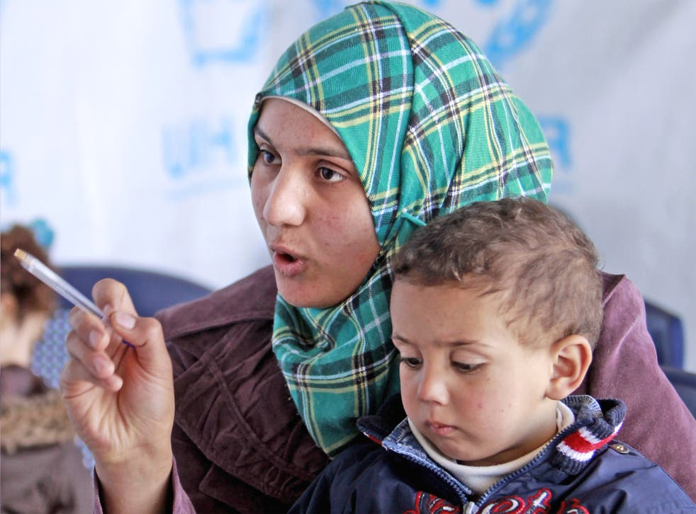 Bushra, the one millionth refugee to be registered from Syria