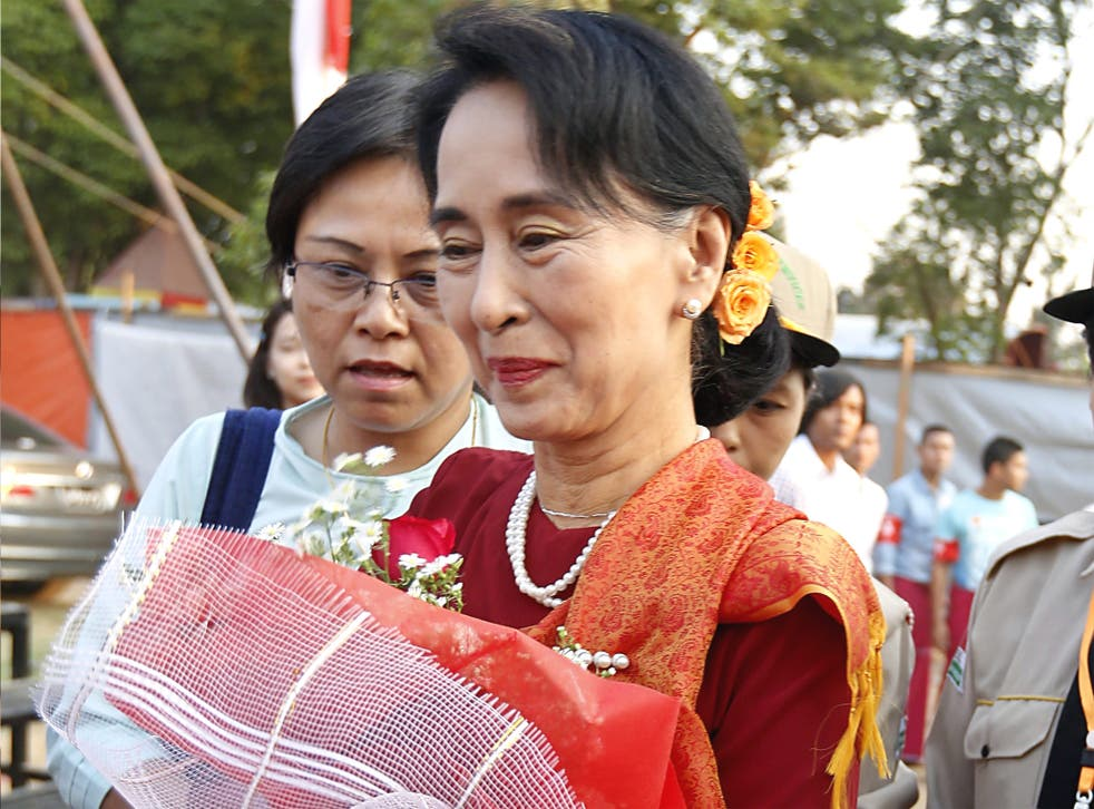 Burmese opposition leader Aung San Suu Kyi
