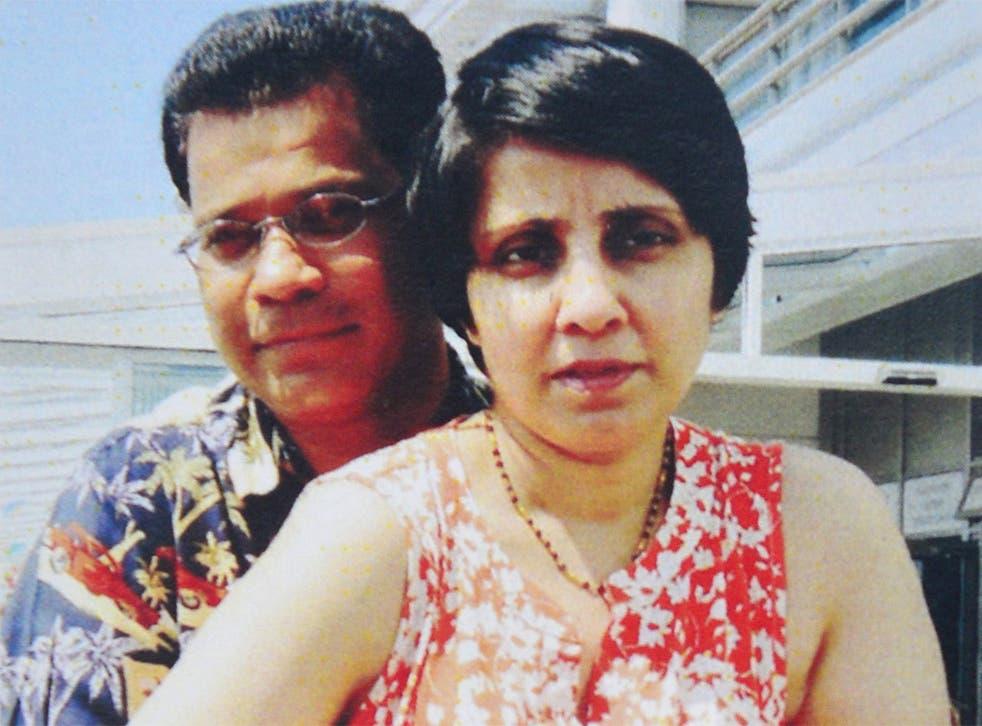 Jacintha Saldanha pictured with husband Ben Barboza