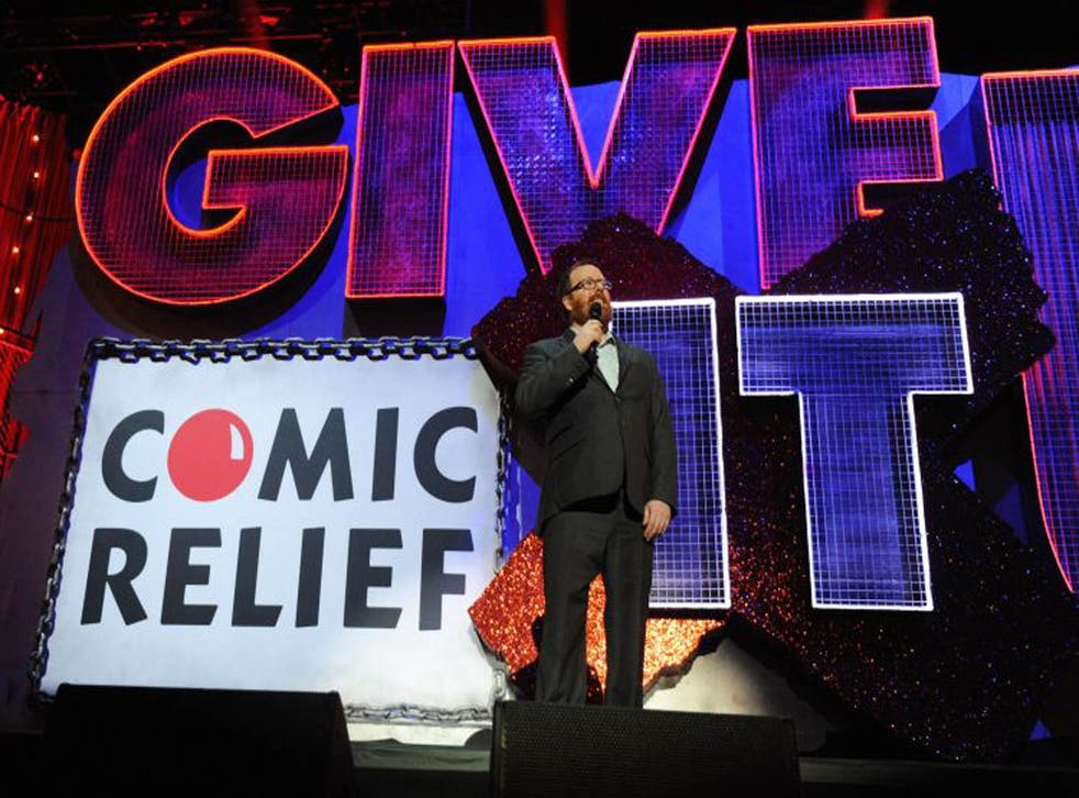 Frankie Boyle performing at Give It Up for Comic Relief