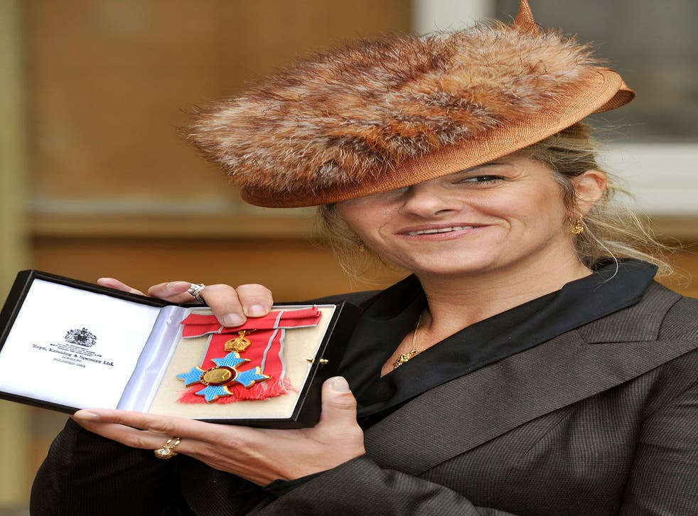 Tracey Emin collecting her CBE today