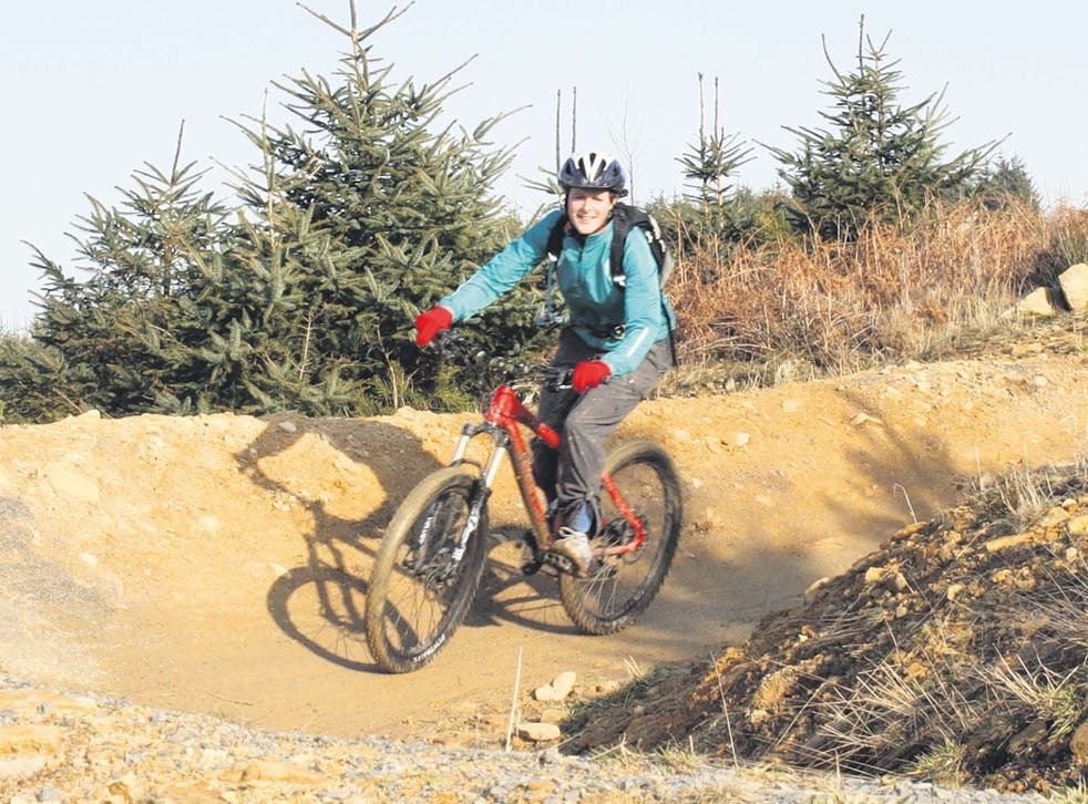 Lucy tests out the Hamsterley Forest bike trails