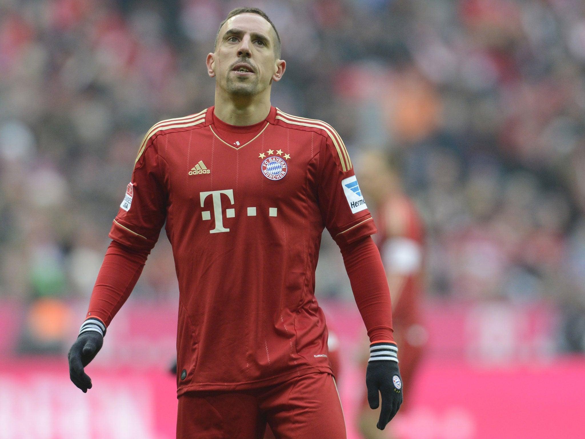 Bayern Munich midfielder Franck Ribery to miss Champions League