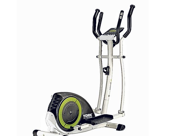 <p><strong>{1} York Fitness Active 120 cross trainer</strong></p> <p>You can pay thousands for a good home cross trainer, but this reliable and compact machine has all the bases covered, with 18 workout programmes and 16 levels of resistance, as well as a built-in fitness test for those who want to check out how fast they&#x2019;re improving.</p> <p>£229, <a href='http://www.amazon.co.uk/gp/product/B008XG19CQ/ref=as_li_ss_tl?ie=UTF8&camp=1634&creative=19450&creativeASIN=B008XG19CQ&linkCode=as2&tag=independen057-21' target='_blank'>amazon</a></p>
