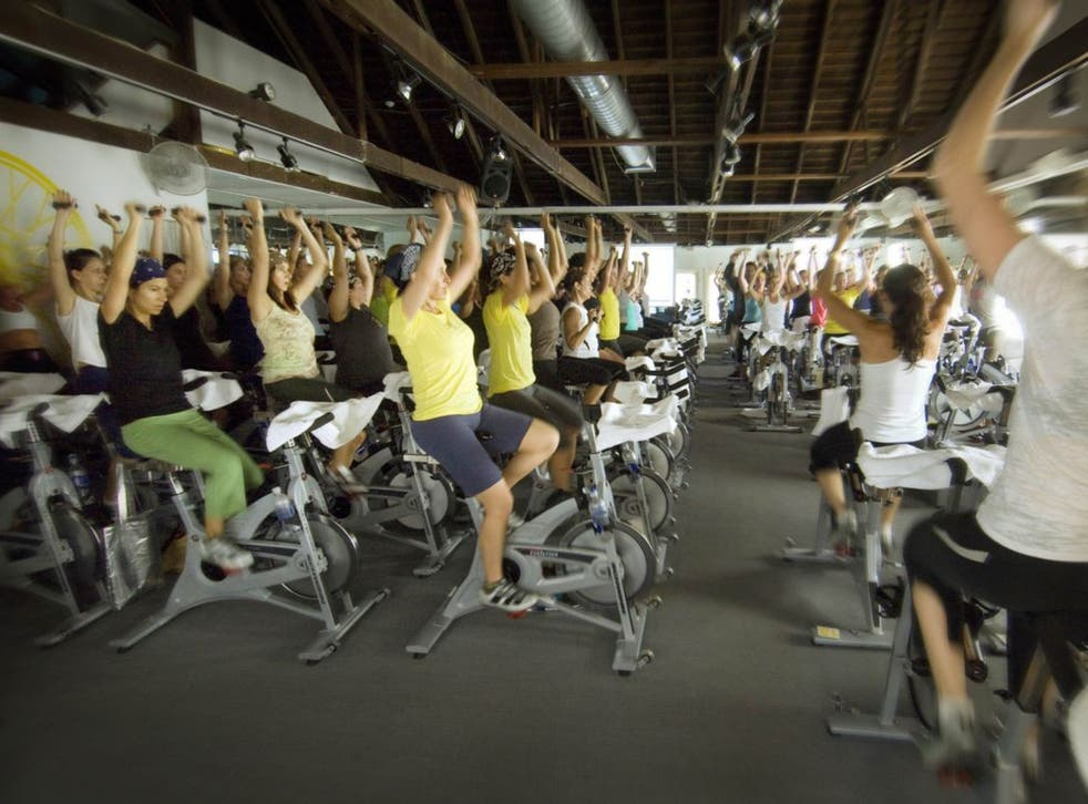 The wheel thing: a SoulCycle class
