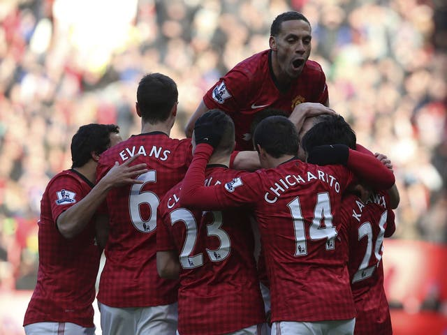 Rio Ferdinand pictured in Manchester United's 2-2 draw with Chelsea