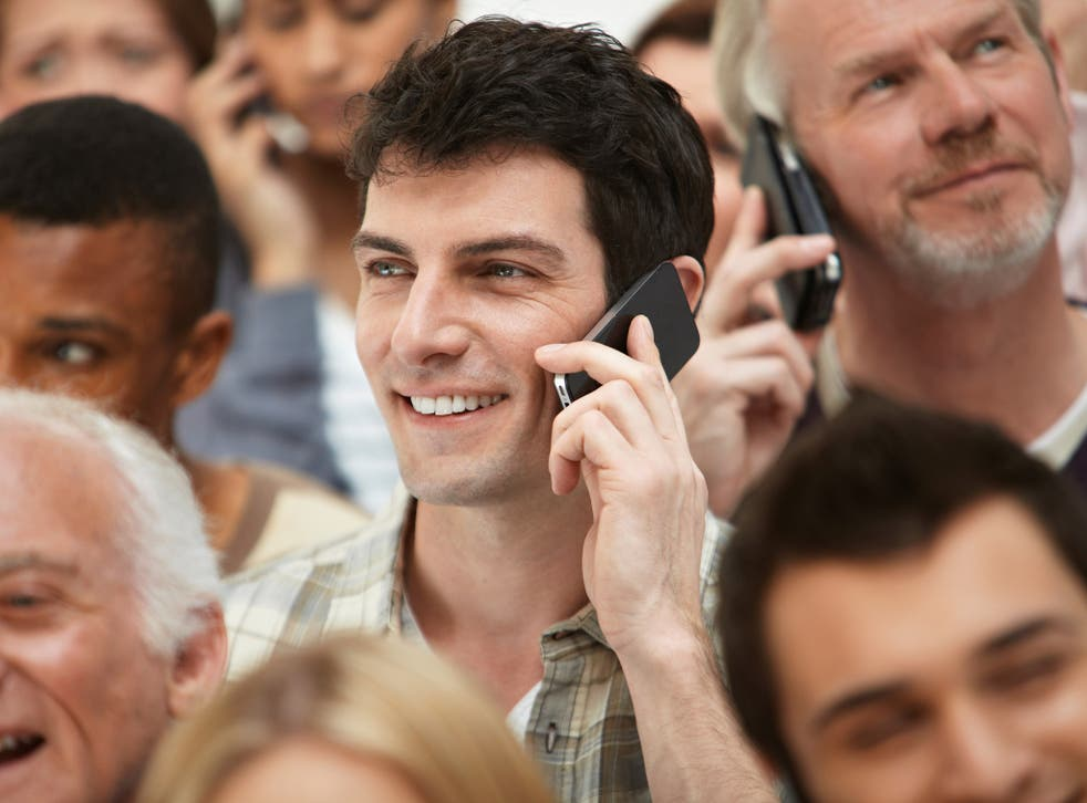 Mobile phone conversations often seem more intrusive than the general hubbub of people talking to one another