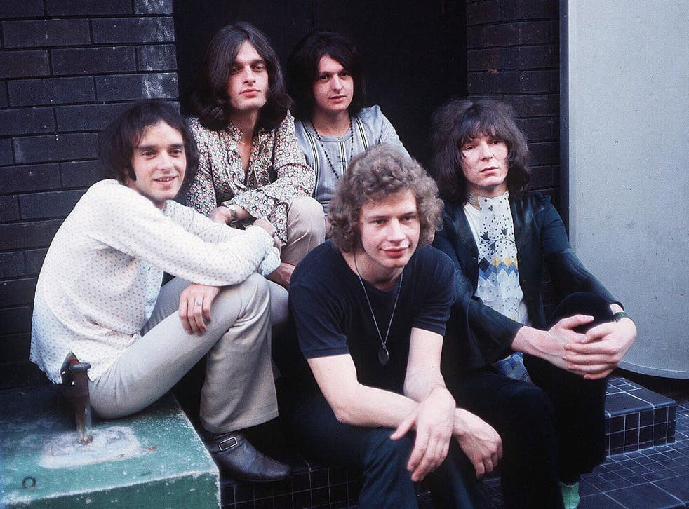 The first Yes line-up: from the left, Banks, Tony Kaye, Jon Anderson, Bill Bruford and Chris Squire