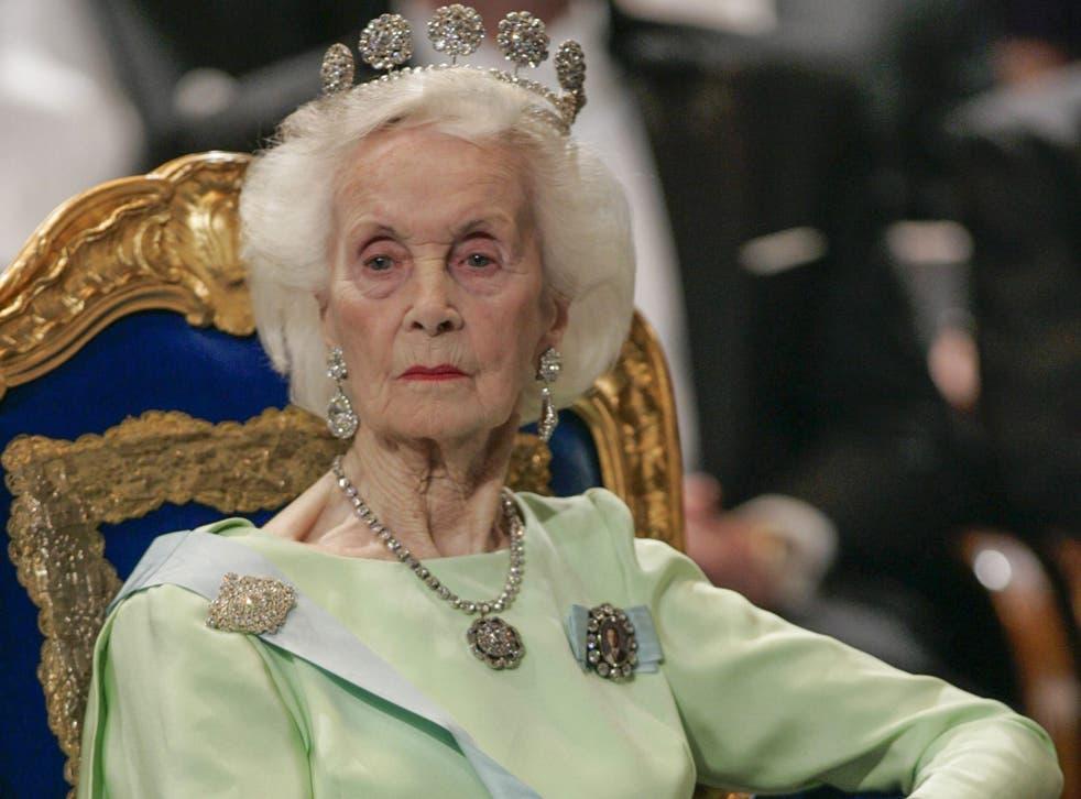 Princess Lilian; she continued public engagements until 2010