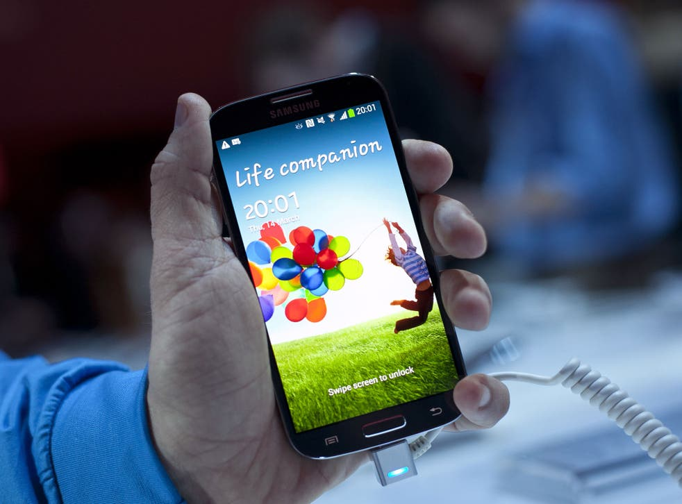 The Samsung Galaxy S4. A new rival to Apple's iPhone